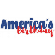 America's Birthday Sticker