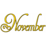 Project Life- November Word Art 1