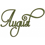 Project Life- August Word Art 1