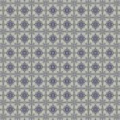 Blue Sandstone Tile Paper