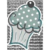 Cuppie Cake Cupcake Sticker