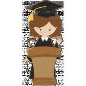 Grad Night Distressed Chipboard Girl 1