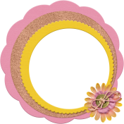 Scalloped Circles Frame