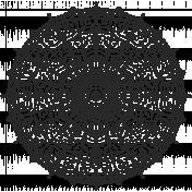 Large Distressed Mandala Stamp