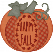 Happy Fall Pumpkin