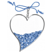 Coastal Heart Charm 3