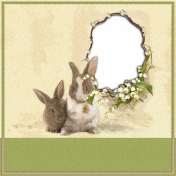 """Easter-Quick page """"lily of the valley, bunny and butterflies"""""""