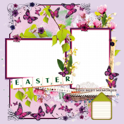 """Quick Page """"Easter butterflies"""""""