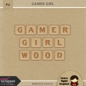 Gamer Girl Alpha Wood