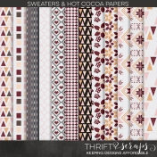 Sweaters and Hot Cocoa Pattern Papers