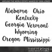 Around The World State Names