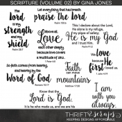 Scripture Word Art (Volume 02)