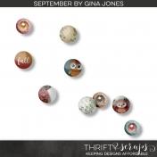 September Buttons & Brads