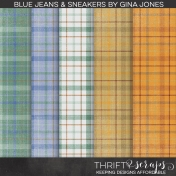 Blue Jeans & Sneakers (Plaid Papers)