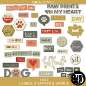 Fido (labels, snippets & words)