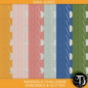 The Marigold Challenge (embossed & glitter papers)