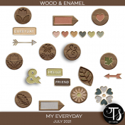 My Everyday: July 2021 Enamel & Wood