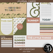 My Everyday: July 2021 Journal Cards