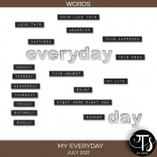 My Everyday: July 2021 Words