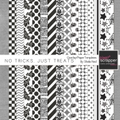 No Tricks, Just Treats Overlay/Paper Templates Kit
