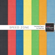 Speed Zone Distressed Papers Kit