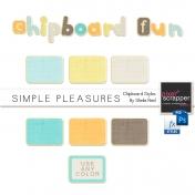 Simple Pleasures Chipboard Styles Kit
