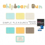 Simple Pleasures Chipboard Styles Kit
