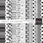 Sweet Valentine Overlay/Paper Templates Kit