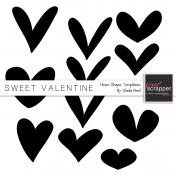 Sweet Valentine Heart Shapes Templates Kit