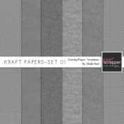 Kraft Papers-Set 01 Overlay/Paper Templates Kit
