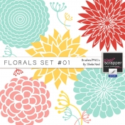 Florals Set #01 Brushes/PNG's Kit