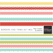 Borders And Trims Set #02 Shape Templates