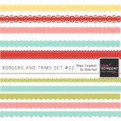 Borders And Trims Set #02 Shape Templates