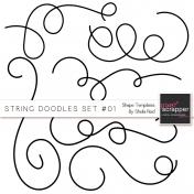 String Doodles Set #01 Shape Templates