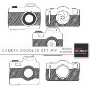 Camera Doodles Set #01 Illustrations Kit
