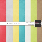 Rain, Rain Distressed Papers Kit
