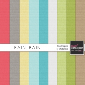 Rain, Rain Solid Papers Kit