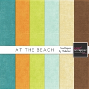 At The Beach Solid Papers Kit