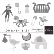 Oh Baby, Baby Element Templates 01 Kit