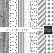 Oh Baby, Baby Overlay/Paper Templates Set#01 Kit