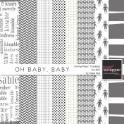 Oh Baby, Baby Overlay/Paper Templates Set#02 Kit