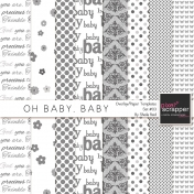 Oh Baby, Baby Overlay/Paper Templates Set#03 Kits