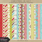 Christmas In July- Christmas Blessings Papers Kit