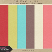 Christmas In July- Christmas Blessings Solid Papers Kit
