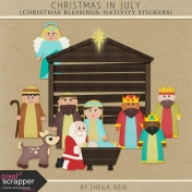 Christmas In July- Christmas Blessings Nativity Stickers And More Kit