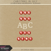 Christmas In July- Christmas Blessings Alphas Kit