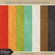 School Fun Crinkled Solid Papers Kit