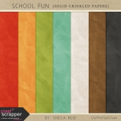 School Fun Crinkled Solid Papers Kit