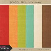 School Fun Solid Papers Kit