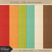 School Fun Solid Papers Kit